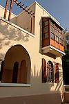 Israel, Tel Aviv. Bialik House, a Bauhaus style building