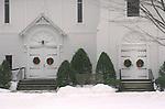 Church in winter, Vermont
