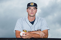 Ian Clarkin (16) of the Charleston RiverDogs poses for a photo prior to the game against the Kannapolis Intimidators at CMC-NorthEast Stadium on June 28, 2014 in Kannapolis, North Carolina.  The Intimidators defeated the RiverDogs 4-3. (Brian Westerholt/Four Seam Images)