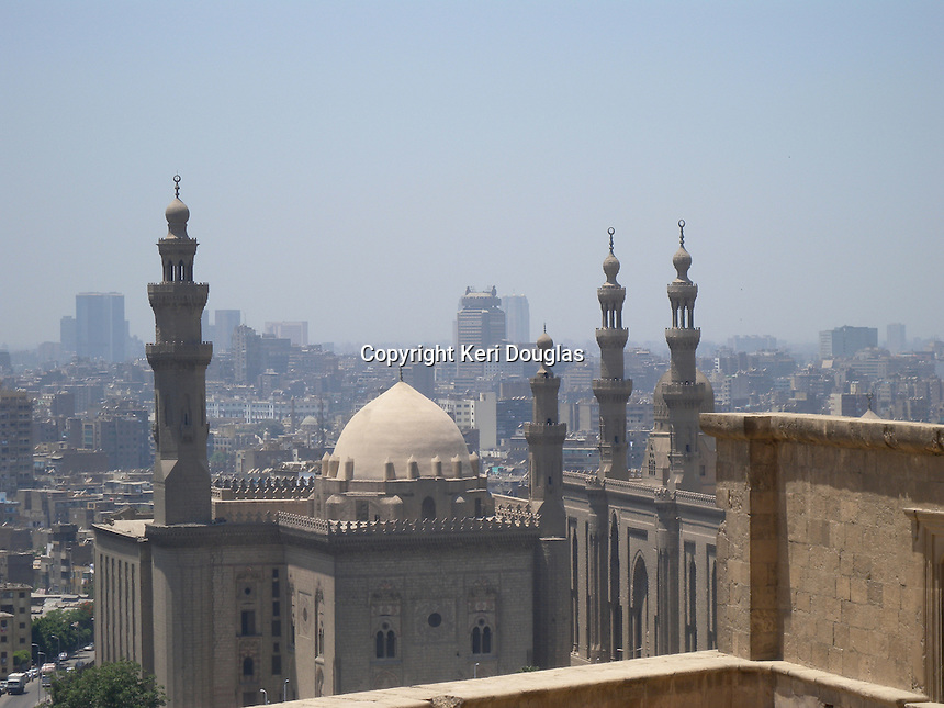 Panoramic view of Mosque of Sultan Hussein, Cairo, Egypt