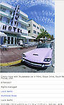 Colony Hotel with Studabaker car in front, Ocean Drive, South Beach, Miami, Florida, USA.