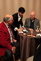 """BEVERLY HILLS - OCT 19: Jessie Altamirano, Ivan Amodei, Chris Philpott at the """"Intimate Illusions"""" headliner Ivan Amodei's 400th show celebration at the Beverly Wilshire Hotel on October 19, 2013 in Beverly Hills, California"""