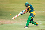Ferisco Adams of South Africa hits a shot during Day 2 of Hong Kong Cricket World Sixes 2017 Cup final match between Pakistan vs South Africa at Kowloon Cricket Club on 29 October 2017, in Hong Kong, China. Photo by Vivek Prakash / Power Sport Images