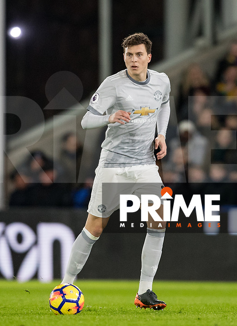 Victor Lindelof of Man Utd during the Premier League match between Crystal Palace and Manchester United at Selhurst Park, London, England on 5 March 2018. Photo by Andy Rowland.