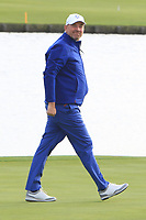 Thomas Bjorn (Captain Team Europe) on the 18th green during the Sunday Singles of the Ryder Cup, Le Golf National, Ile-de-France, France. 30/09/2018.<br /> Picture Thos Caffrey / Golffile.ie<br /> <br /> All photo usage must carry mandatory copyright credit (© Golffile | Thos Caffrey)