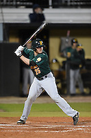 Siena Saints catcher Dave Hoffmann (25) at bat during the opening game of the season against the UCF Knights on February 13, 2015 at Jay Bergman Field in Orlando, Florida.  UCF defeated Siena 4-1.  (Mike Janes/Four Seam Images)