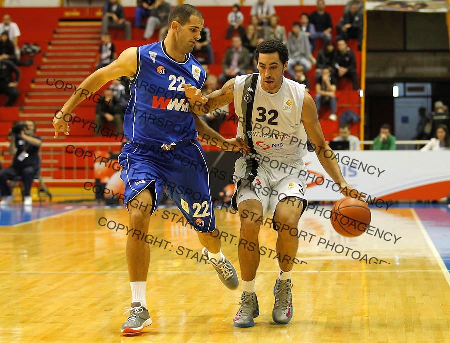 Kosarka ABA League season 2012-2013.Partizan Vs. Siroki.Drew Gordon right and Zeljko Sakic.Beograd, 14.10.2012..foto: Srdjan Stevanovic/Starsportphoto ©