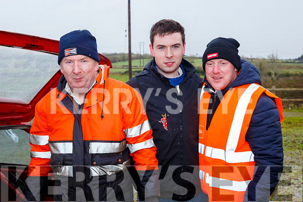 Ready for road at the Jimmy Devane Moto Cross at Ballybeggan Racecourse on Saturday last as they make running repairs, l-r, Mike Nelligan, PJ Dowd and Colin Nelligan.