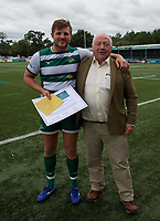 Man of the Match Harry Sloan of Ealing Trailfinders after the RFU Championship Cup match between Ealing Trailfinders and Ampthill RUFC at Castle Bar , West Ealing , England  on 28 September 2019. Photo by Alan  Stanford / PRiME Media Images