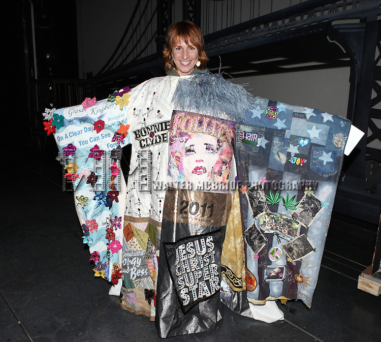 Lisa Gajda (recipient for 'Chaplin')  attending the Broadway Opening Night Performance  Gypsy Robe Ceremony celebrating Merwin Foard recipient  for 'Annie' at the Palace Theatre in New York City on 11/08/2012