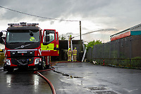 A general View of the fire at Garngoch Industrial Estate, Swansea, Wales, UK Tuesday 11 June 2019