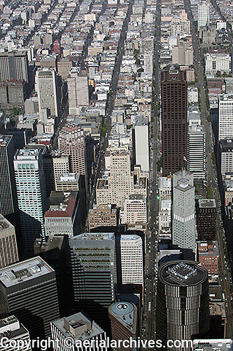 aerial photograph Pine Street San Francisco financial district