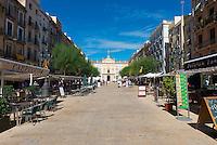 Cafes on Font Square (Placa de la Font), Tarragona, Spain