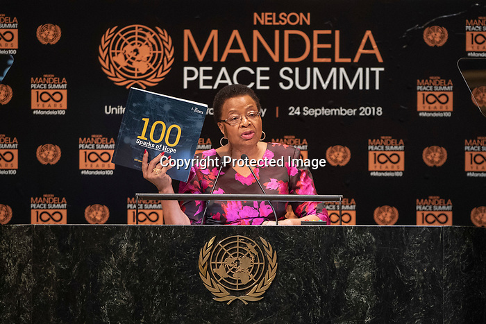 Opening Plenary Meeting of the Nelson Mandela Peace Summit<br /> <br /> Ms, Machel