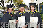 Pictured at the Institute of Technology, Tralee Autumn Conferring of Awards Ceremony on Friday, in the Brandon hotel were Christina Murphy, Chutehall, Caroline O'Halloran, Tralee and Kathleen Murphy Rathmore who received an Honours Degree in Nursing.