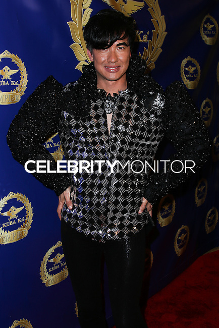 BEVERLY HILLS, CA, USA - MARCH 28: Bobby Trendy at the Versace Unveiling Of The 1st Pop Recording Artist Superhero - KUBA Ka's Performance Outfits. Designed by the legendary fashion hosuse - Donatella Versace. For the Benefit of the Face Forward Foundation (Plastic Surgery for Destroyed Faces from Violence). Pop entertainer TV personality KUBA Ka, together with VERSACE, unveiled Kuba Ka's new Versace images, for the First Pop Artist/Superhero of the World. He has become the inspiration of Donatella's newest and wildest creations and will celebrate the launch of his new power house conglomerate - KUBA Ka Empire Inc. in collaboration with the sensational fashion house - VERSACE on Friday, his birthday at a red carpet media and celebrity event at the luxurious Peninsula Hotel in Beverly Hills held at the Peninsula Hotel on March 28, 2014 in Beverly Hills, California, United States. (Photo by Xavier Collin/Celebrity Monitor)