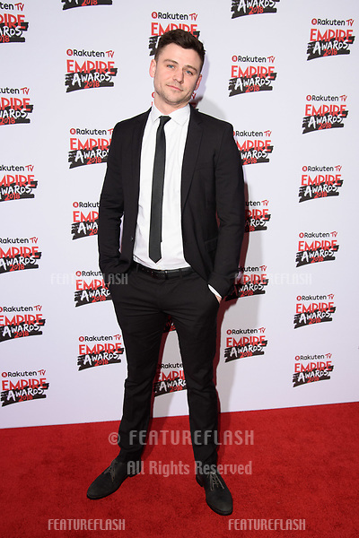 Juan Antonio Garcia Bayona arriving for the Empire Awards 2018 at the Roundhouse, Camden, London, UK. <br /> 18 March  2018<br /> Picture: Steve Vas/Featureflash/SilverHub 0208 004 5359 sales@silverhubmedia.com
