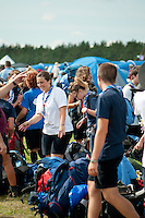 Happy, tierd scouts arrivals to the camp. Photo: Malin Serner/SCOUTERNA