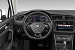 Car pictures of steering wheel view of a 2019 Volkswagen Tiguan Highline 5 Door SUV
