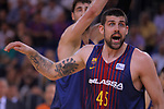League ACB-ENDESA 2017/2018.<br /> PlayOff-Semifinal-Game: 3<br /> FC Barcelona Lassa vs Kirolbet Baskonia: 67-65.<br /> Adrien Moerman.