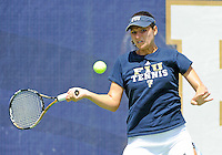 Florida International University tennis player Christine Seredni plays against the University of Pennsylvania.  FIU won the match 4-3 on March 9, 2012 at Miami, Florida. .