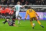 06.10.2019, Commerzbankarena, Frankfurt, GER, 1. FBL, Eintracht Frankfurt vs. SV Werder Bremen, <br /> <br /> DFL REGULATIONS PROHIBIT ANY USE OF PHOTOGRAPHS AS IMAGE SEQUENCES AND/OR QUASI-VIDEO.<br /> <br /> im Bild: Foul von Makoto Hasebe (Eintracht Frankfurt #20) gegen Davy Klaassen (SV Werder Bremen #30) Elfmeter<br /> <br /> Foto © nordphoto / Fabisch