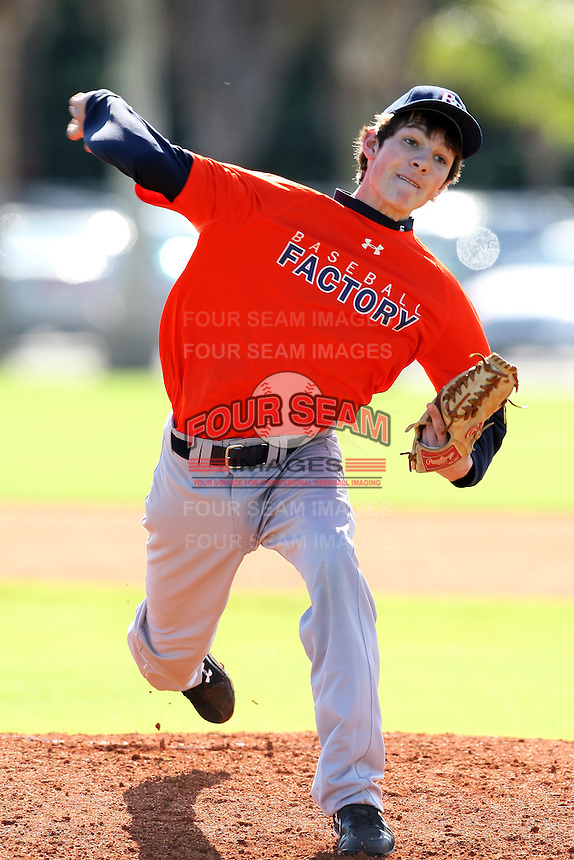 December 28, 2009:  Bradley Lanier (6) Baseball Factory Cowboys team during the Pirate City Baseball Camp & Tournament at Pirate City in Bradenton, FL.  Photo By Mike Janes/Four Seam Images