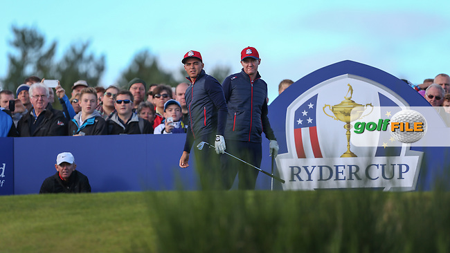 Rickie Fowler (USA) and Jimmy Walker (USA) during the 2014 Ryder Cup from Gleneagles, Perthshire, Scotland. Picture:  David Lloyd / www.golffile.ie