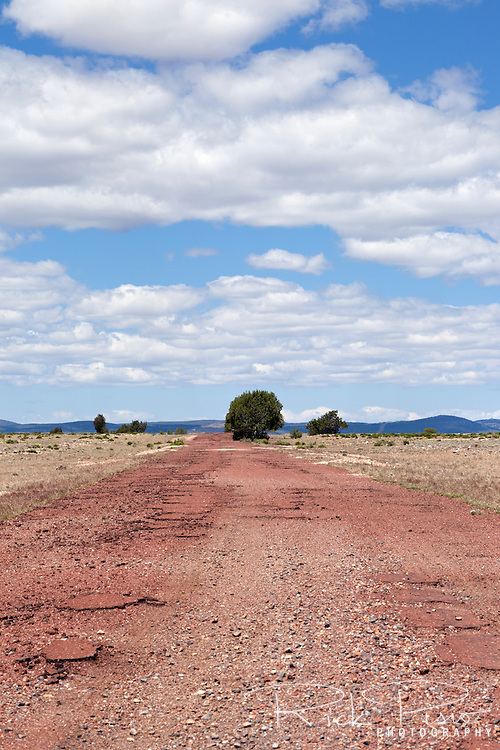 Abandoned section of Route 66 west of Ash Fork, Arizona.