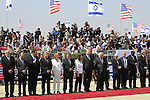Israel ministers and dignitaries welcome US President Barack Obama at Ben Gurion Airport