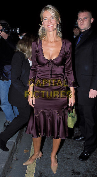 "ULRIKA JONSSON.Arrives at her ""Honest"" book launch.sales@capitalpictures.com.www.capitalpictures.com.©Capital Pictures.purple satin dress, lookalike, madonna, same dress"