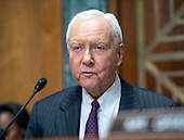 United States Senator Orrin Hatch (Republican of Utah), Chairman, US Senate Committee on Finance, makes opening remarks prior to hearing testimony from Charles P. Rettig on his nomination to be Commissioner Of Internal Revenue (IRS) on Capitol Hill in Washington, DC on Thursday, June 28, 2018.  Senator Hatch also serves as the president pro tempore of the Senate.<br /> Credit: Ron Sachs / CNP