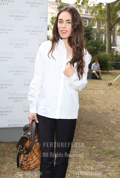 Tallulah Harlech arriving at the Unique catwalk show as part of London Fashion Week SS13, Top Shop Venue, Bedford Square, London. 16/09/2012 Picture by: Henry Harris / Featureflash