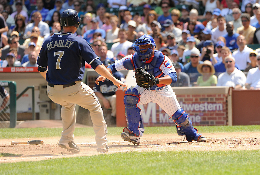 WELLINGTON CASTILLO, of the Chicago Cubs, in action during the Cubs game against the  San Diego Padres at Wrigley Field in Chicago, IL. on August 18, 2010.   The Padres win the game 5-1....