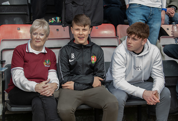 Burnley fans at half time<br /> <br /> Photographer David Horton/CameraSport<br /> <br /> The Premier League - Bournemouth v Burnley - Saturday 6th April 2019 - Vitality Stadium - Bournemouth<br /> <br /> World Copyright © 2019 CameraSport. All rights reserved. 43 Linden Ave. Countesthorpe. Leicester. England. LE8 5PG - Tel: +44 (0) 116 277 4147 - admin@camerasport.com - www.camerasport.com