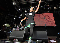 Jaden Smith comes out to start his performance during The New Look Wireless Music Festival at Finsbury Park, London, England on Sunday 05 July 2015. Photo by Andy Rowland.