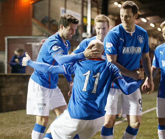 Richard Foster after a bizarre celebration with goalscorer Nicky Law