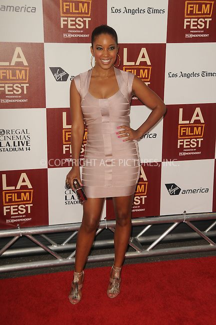 WWW.ACEPIXS.COM . . . . .  ....June 20 2012, LA....Reagan Gomez-Preston arriving at Film Independent's 2012 Los Angeles Film Festival Premiere Of  'Middle Of Nowhere' at Regal Cinemas L.A. Live on June 20, 2012 in Los Angeles, California. ....Please byline: PETER WEST - ACE PICTURES.... *** ***..Ace Pictures, Inc:  ..Philip Vaughan (212) 243-8787 or (646) 769 0430..e-mail: info@acepixs.com..web: http://www.acepixs.com