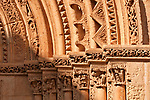 Detail of the columns on the outside of Valencia Cathedral, built between the 13th and 15th century