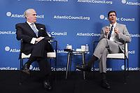 Washington, DC - May 17, 2019: Secretary of the United States Army Mark T. Esper speaks at the Atlantic Council, May 17, 2019.  (Photo by Lenin Nolly/Media Images International)