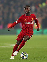 5th November 2019; Anfield, Liverpool, Merseyside, England; UEFA Champions League Football, Liverpool versus Genk; Naby Keita of Liverpool controls the ball before passing it - Editorial Use