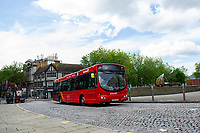 A general View of Castle Square Gardens as a First Cymru 25 bus drives past , Swansea, Wales, UK. Monday 10 June 2019