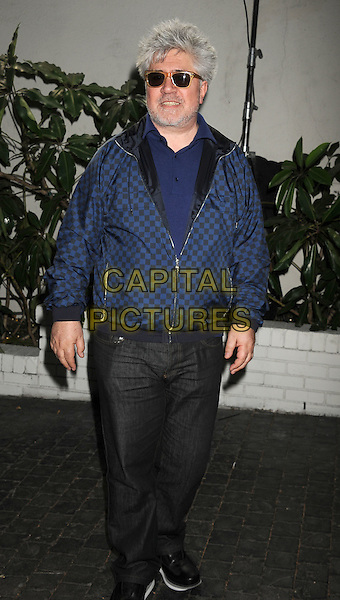 Pedro Almodovar.W Magazine's 69th Annual Golden Globe Awards Celebration held at The Chateau Marmont, West Hollywood, California, USA..13th January 2012.full length blue jacket sunglasses shades jeans denim beard facial hair.CAP/ROT/TM.©Tony Michaels/Roth Stock/Capital Pictures