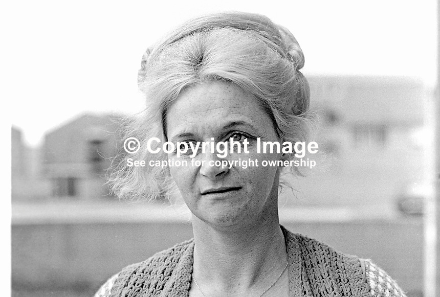 Mrs Mary Douglas, senior member, UDA, Ulster Defence Association, N Ireland, 197405060243b.<br />