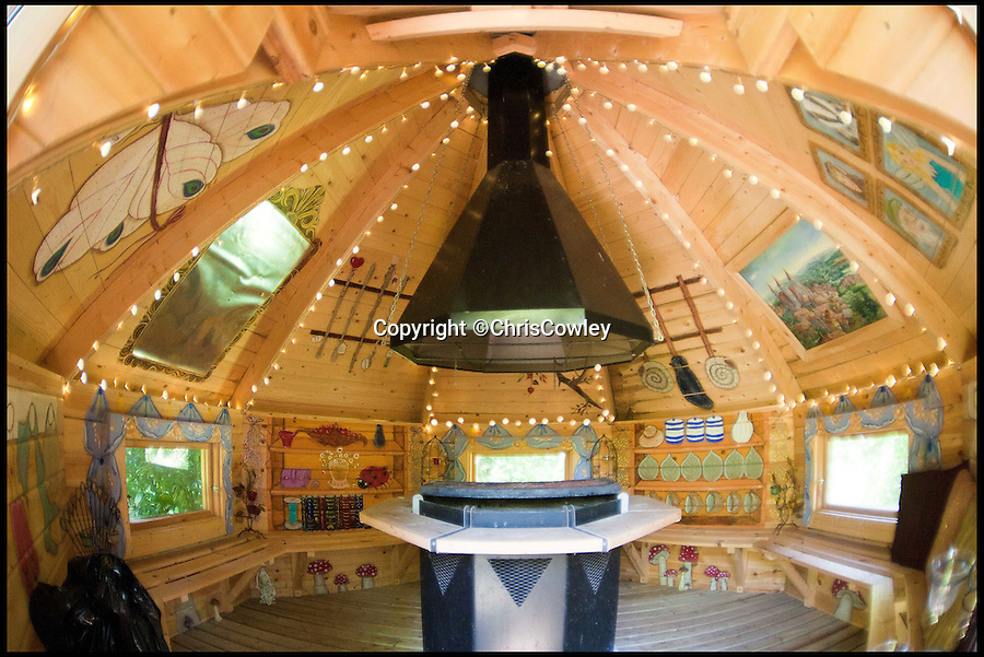 BNPS.co.uk (01202 558833)<br /> Pic: ChrisCowley/EnchantedManor/BNPS<br /> <br /> **Please use full byline**<br /> <br /> A dome-shaped room.<br /> <br /> Sleeping Beauties and Cinderallas take note - make a wish and this luxury fairytale hotel could be yours for a cool £1.5 million.<br /> <br /> With 11 sumptuous suites - all of which are decked out in fairtytale style with four-poster beds - the Enchanted Manor is the stuff dreams are made of.<br /> <br /> Coupled with idyllic sea views, the unique 5* property near Niton on the Isle of Wight has become a bolthole for couples seeking fairytale romance.<br /> <br /> Once a historic Victorian manor house, owners Ric and Maggie Hilton set about creating their dream come true after saving the grand building from ruin in 2006.<br /> <br /> The property is being on the market for £1.5 million with property guru Sarah Beeny's online estate agents Tepilo.