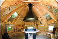 BNPS.co.uk (01202 558833)<br /> Pic: ChrisCowley/EnchantedManor/BNPS<br /> <br /> **Please use full byline**<br /> <br /> A dome-shaped room.<br /> <br /> Sleeping Beauties and Cinderallas take note - make a wish and this luxury fairytale hotel could be yours for a cool &pound;1.5 million.<br /> <br /> With 11 sumptuous suites - all of which are decked out in fairtytale style with four-poster beds - the Enchanted Manor is the stuff dreams are made of.<br /> <br /> Coupled with idyllic sea views, the unique 5* property near Niton on the Isle of Wight has become a bolthole for couples seeking fairytale romance.<br /> <br /> Once a historic Victorian manor house, owners Ric and Maggie Hilton set about creating their dream come true after saving the grand building from ruin in 2006.<br /> <br /> The property is being on the market for &pound;1.5 million with property guru Sarah Beeny's online estate agents Tepilo.