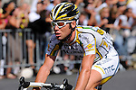 Mark Cavendish of Team Columbia HTC, winner of six stages, including the final sprint on the Champs  Elysees, during Tour de France 2009, won by Alberto Contador of Astana, on Rue de Rivoli in Paris
