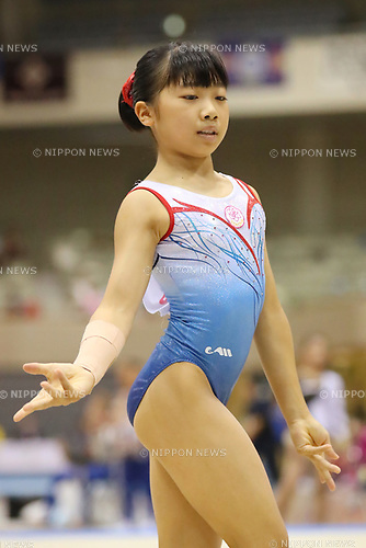 Urara Ashikawa (), <br /> AUGUST 21, 2017 - Artistic Gymnastics : <br /> 48th All Japan Junior High School Championships <br /> Women's Individual All-Around <br /> Floor Exercise <br /> at Kitakyushu City General Gymnasium, Fukuoka, Japan. <br /> (Photo by YUTAKA/AFLO)