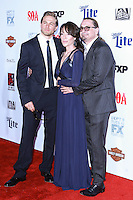HOLLYWOOD, LOS ANGELES, CA, USA - SEPTEMBER 06: Charlie Hunnam, Katey Sagal, Kurt Sutter arrive at the Los Angeles Premiere Of FX's 'Sons Of Anarchy' Season 7 held at the TCL Chinese Theatre on September 6, 2014 in Hollywood, Los Angeles, California, United States. (Photo by David Acosta/Celebrity Monitor)