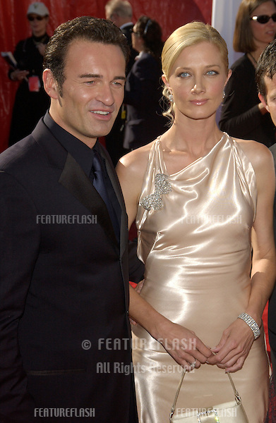Nip/Tuck stars JOELY RICHARDSON & JULIAN McMAHON at the 55t Annual Emmy Awards in Los Angeles..Sept 21, 2003